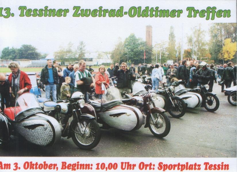 Ankündigung des 12. Tessiner Zweirad-Oldtimer-Treffen 2011